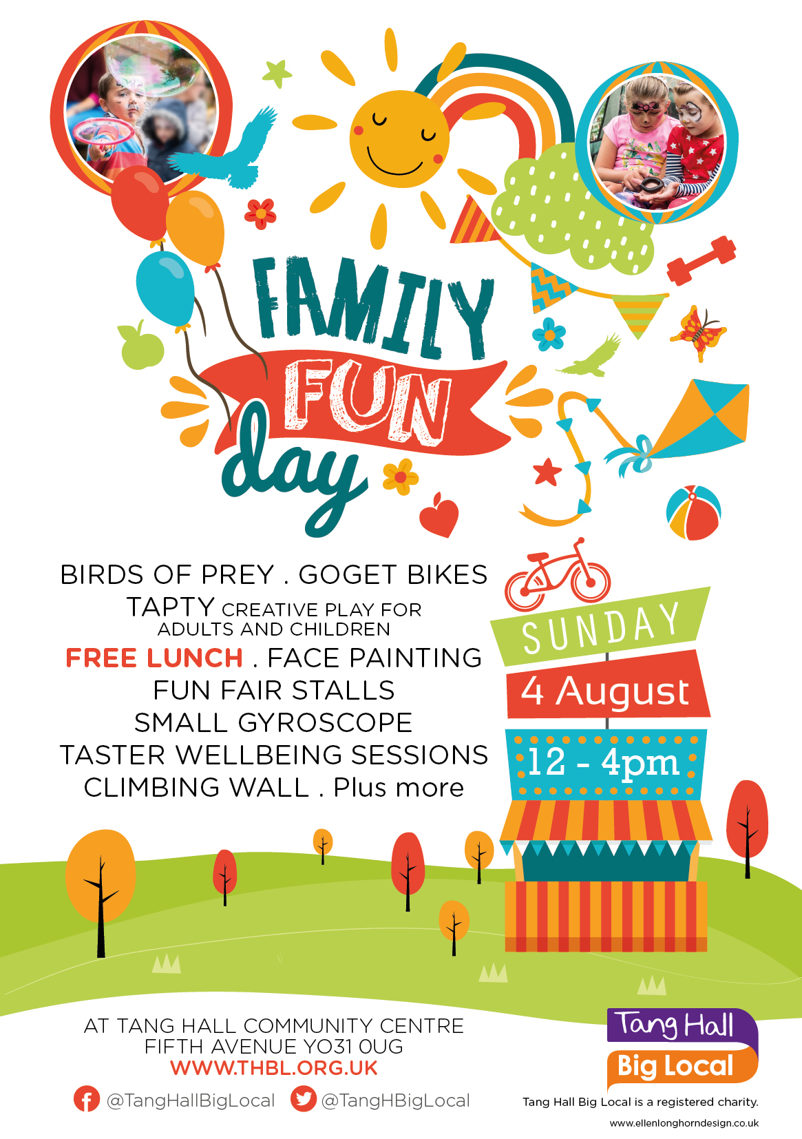 Advertisement for Tang Hall Big Local Family Fun Day